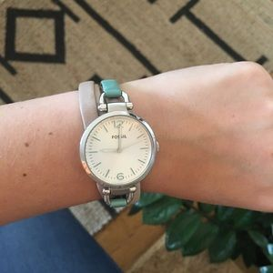 Beautiful Fossil Watch Blush Genuine Leather